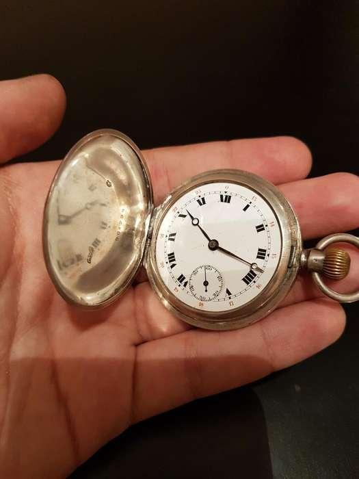 Reloj de Bolsillo de Plata Funcionando