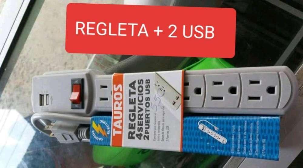 Regleta Electrica 2 Usb