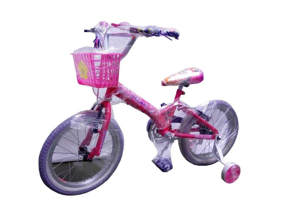 Bicicleta Drive Niña rosada Rin 16 Llantas Auxiliares