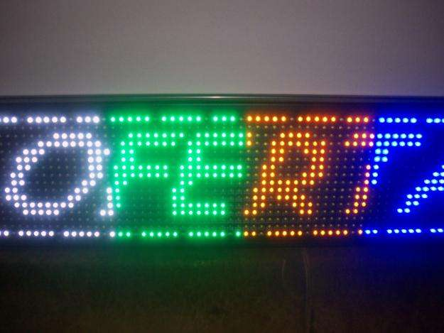 CARTEL LED PROGRAMABLE 5 Colores