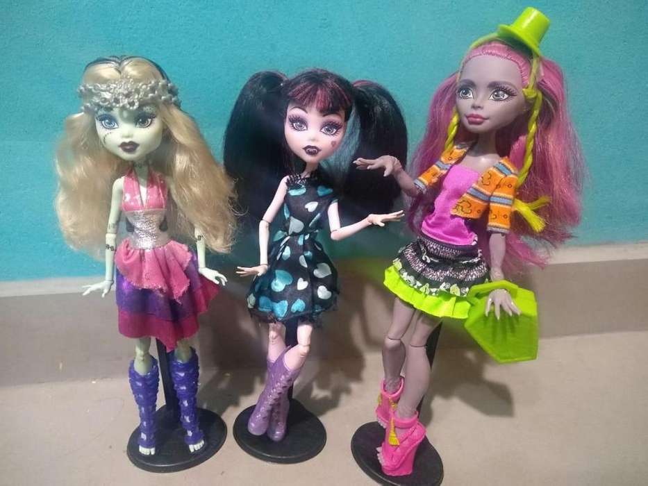 vendo muñecas monster high originales seminuevas desde S/.20