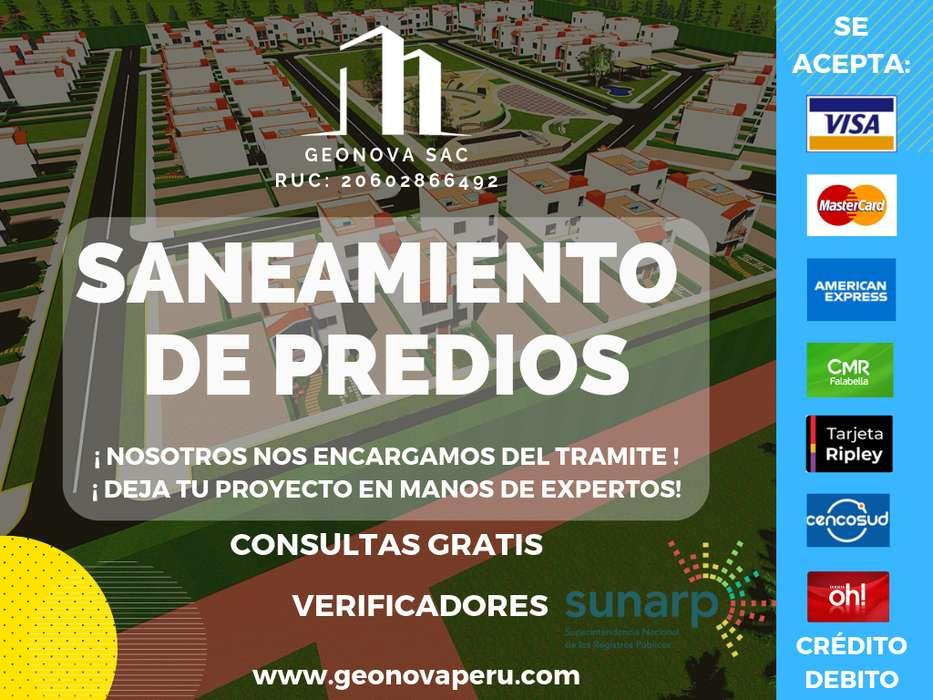 DECLARATORIA DE FABRICA/SUB DIVISIONES/INDEPENDIZACIÓN/ SERVICIOS DE SANEAMIENTO FÍSICO LEGAL/GEONOVA SAC/946191359