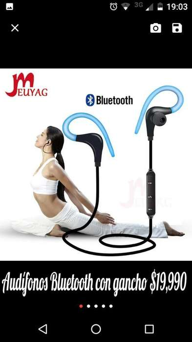 Audífonos Bluetooth con Gancho 19,990
