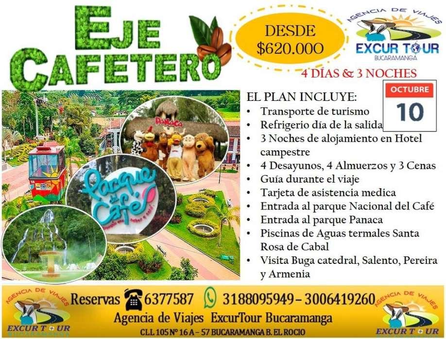 Tour Eje Cafetero Salida de Bucaramanga