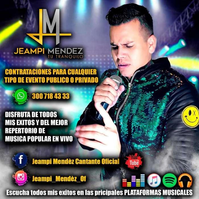 CANTANTE DE MUSICA POPULAR PARA CUALQUIER TIPO DE EVENTO