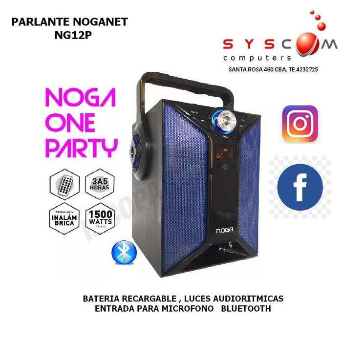 PARLANTE PORTATIL NOGANET NG-12P PARTY BLUETOOTH