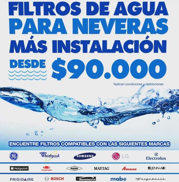 mantenimiento de neveras con cambio filtro de agua