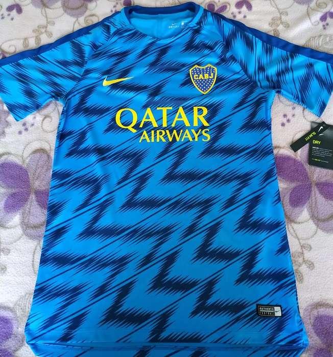 Remera Camiseta Entrenamiento Boca Juniors Nike Squad Top