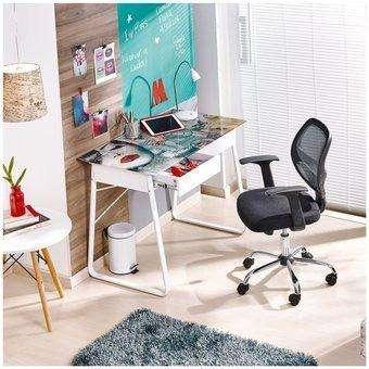 <strong>escritorio</strong> en Vidrio Templado con Cajone