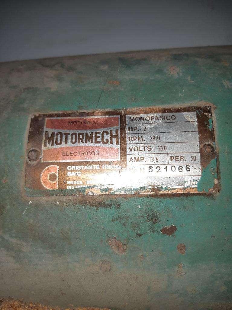 Motor Monofacico Motormech de 2 Hp