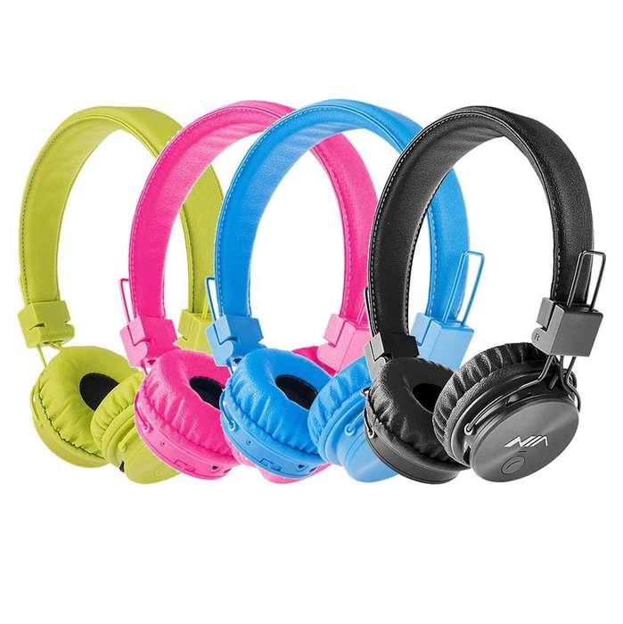 Audífonos Bluetooth Diadema Colores Fm Sd Llamadas