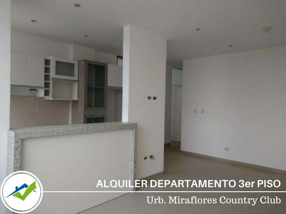 Alquiler Departamento 3piso - Urb. Miraflores Country Club, Piura