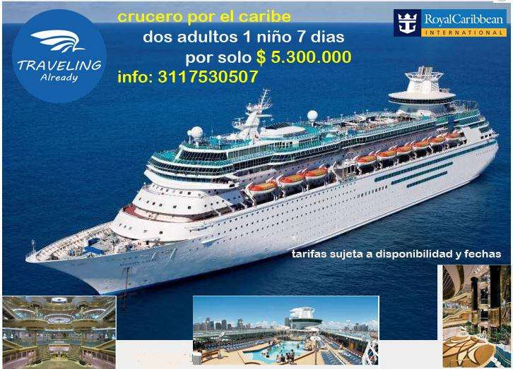 crucero promoción 5.300.000 por persona info 3117530507