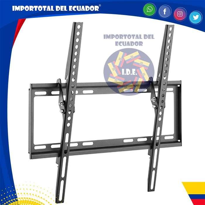Soporte de pared ''nuevo'' inclinable 8 grados para tv plana desde 32 hasta 55 pulgadas / Resiste 77 libras de peso