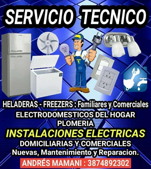 Servicio Tecnico heladeras, Electricidad