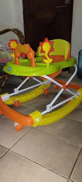 prevenir Las piernas Juntas 6 Alturas Ajustables Plegable Walker Anti-vuelco Durante 6-18 Meses de beb/é Olz Andador Bebe multifunci/ón con Bandeja Desmontable M/úsica