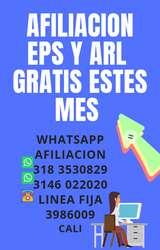 Afiliaciones a Eps y Arl Gratis este Mes