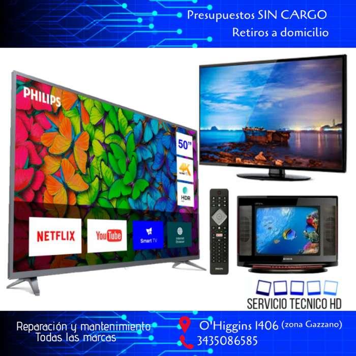 Reparacion TV LCD LED SMART Presupuestos sin cargo