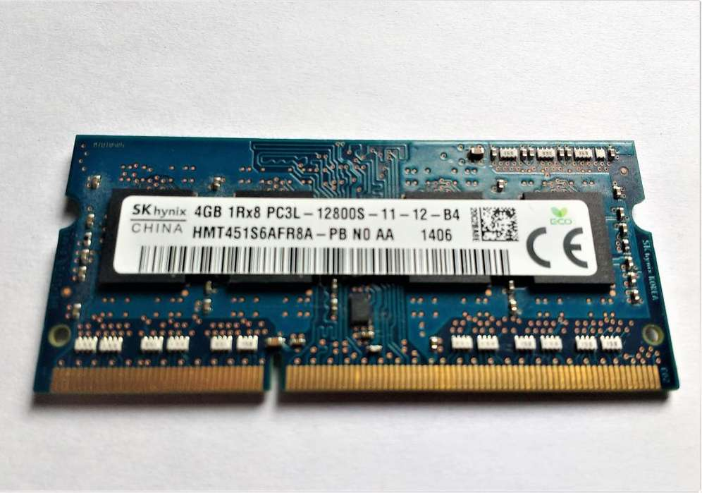 Memoria RAM DDR3L 4GB 1600MHz portatil PC3L 12800S