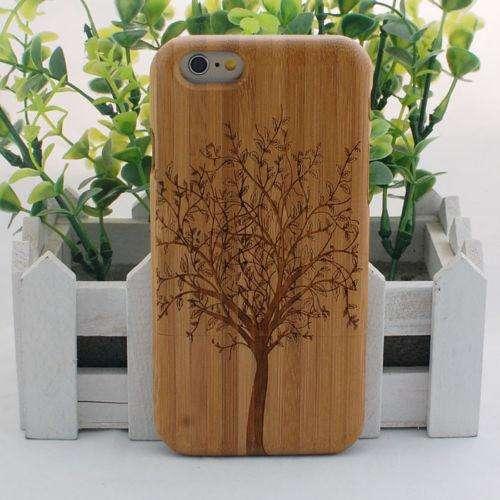 Estuche Iphone 6 Nature Creative Arbol de Bambú Madera duro funda para iPhone 6