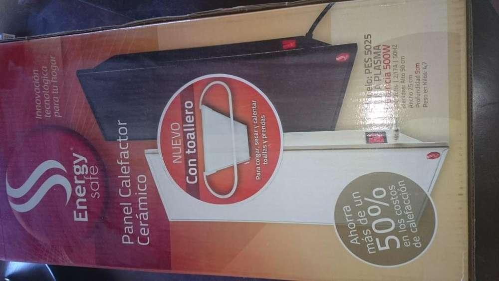 Panel <strong>calefactor</strong> Ceramico De Pared Energy Safe 500 W con toallero