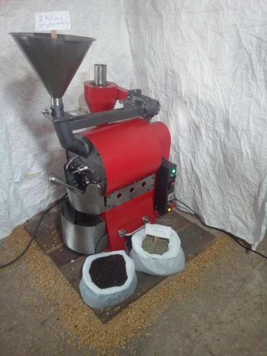 tostadora de cafe 2 kilos por ciclo.