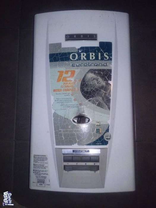 Calefón Orbis a botonera 12 lts