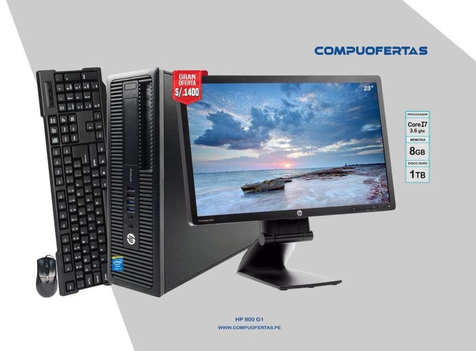 HP ELITEDESK 800G1 CORE I7 3.6GHZ CON LED 23