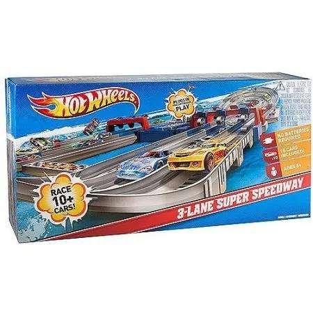 Pista Hot Wheels 3-lane Super Speedway - Usada Excelente