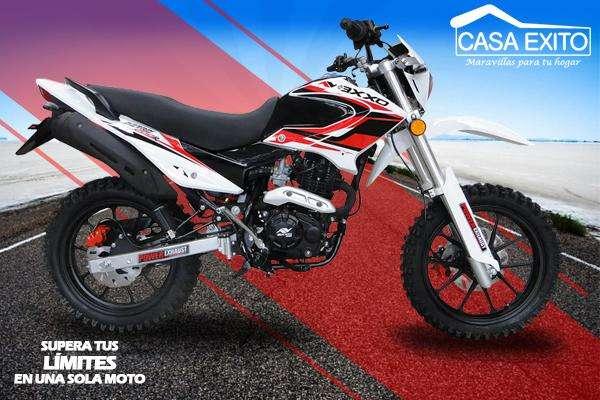 Moto Axxo Nitro 200cc Año 2019 Color Rojo / Negro / Blanco Casa Éxito