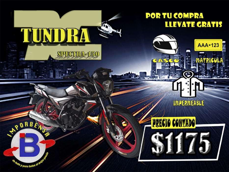 MOTOS SANTO DOMINGO//IMPORTADORA BENAVIDES//TUNDRA SPECTRA 150//CASCO/MATRICULA/IMPERMEABLE GRATIS