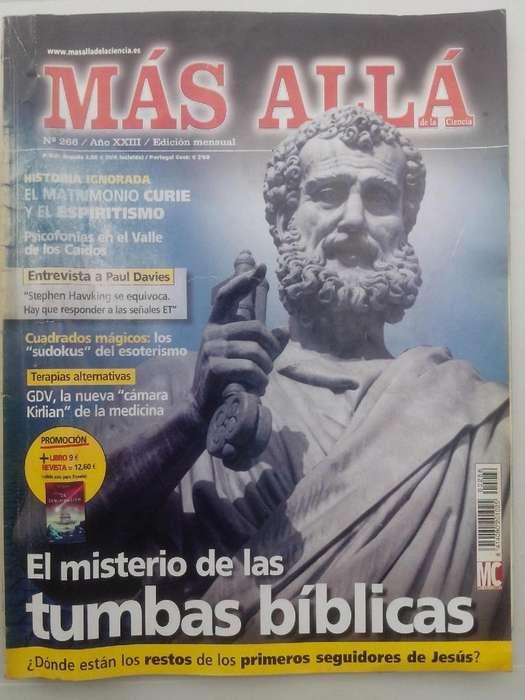 Revista Mas Alla Misterio Tumbas Biblica