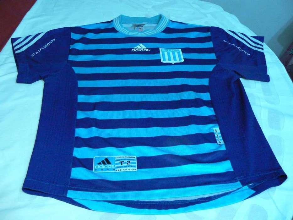 Camiseta Alternativa de Racing Club Adidas Temporada 1998 Talle S 2