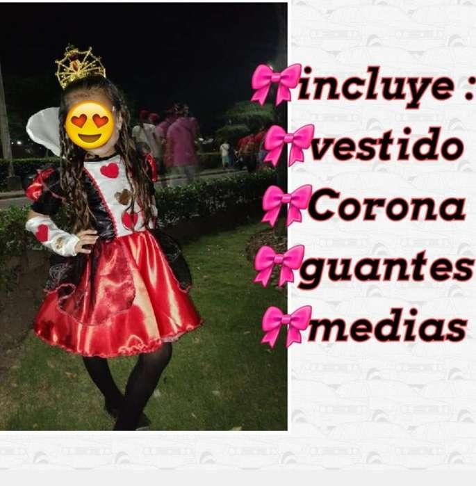 Vendo Disfraz de Reina de Corazones
