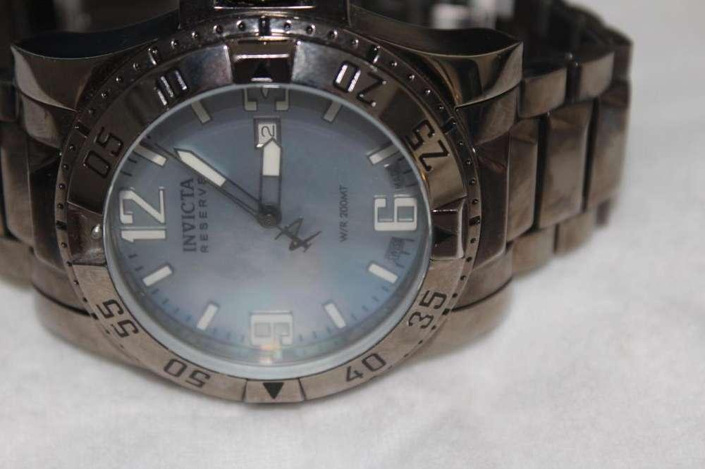 Reloj Invicta Reserve 0515 Excelente Estado Acero Ionizado