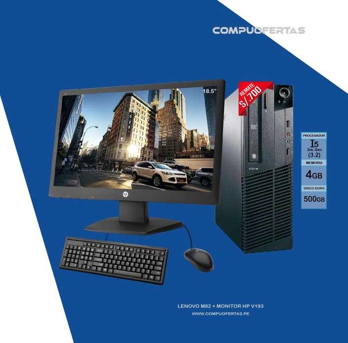 Computadora Lenovo M82 Core i5 Con Monitor 18.5