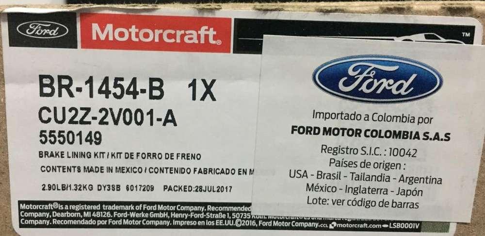 <strong>frenos</strong> para Ford Fiesta Marca Motorcraft Foto de Referencia.