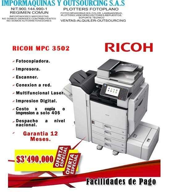 Equipos de fotocopiado Ricoh en todas sus referencias
