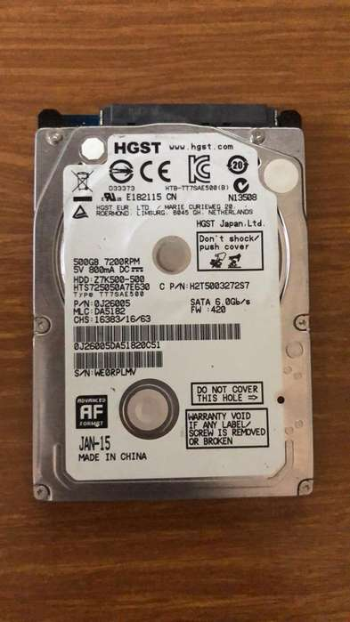 Disco Duro Portatil 500Gb