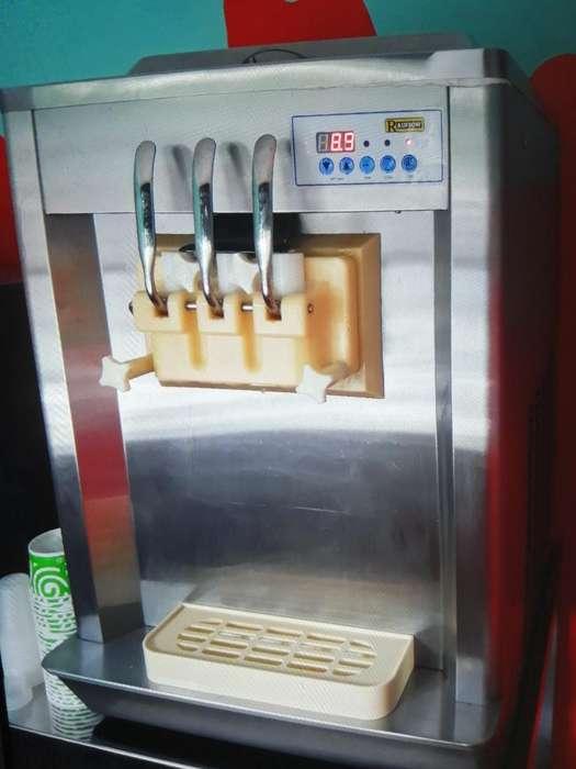 Vendo Maquina de Helado Más Refrigerador