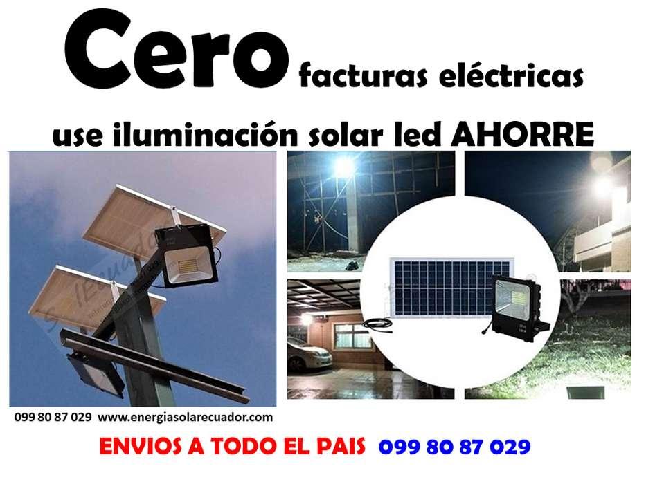 reflectores solares led cero planillas electricas facil instalacion