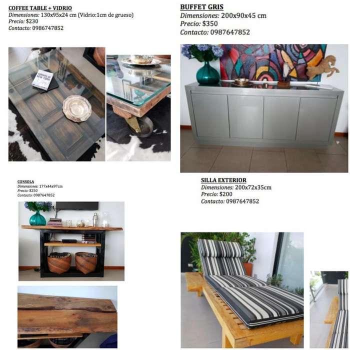 Muebles Varios(consola,bufet, Mesa Baja)