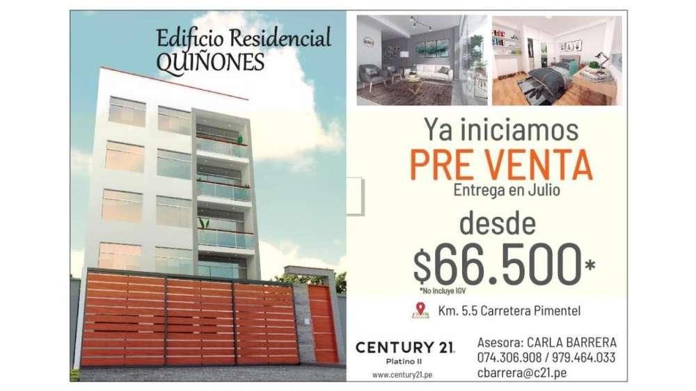 Departamentos de estreno en Preventa - Carretera a Pimentel (Residencial Quiñones)