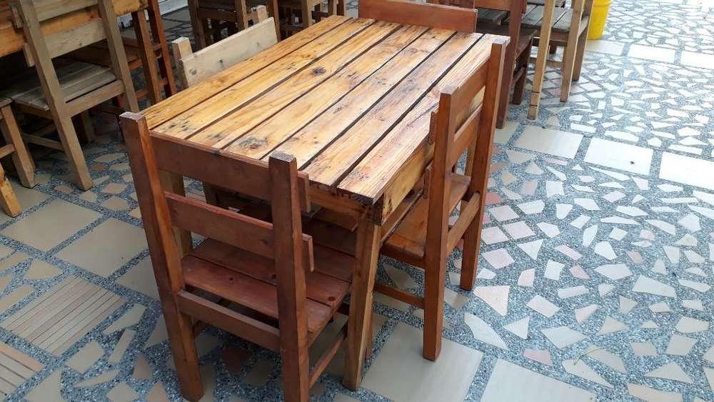 Vendo Mesas en Madera