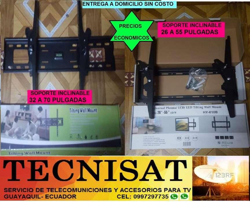 VENTA DE SOPORTE TV INCLINABLE DE 26 A 90 PULG. SOPORTA 165 LBS.
