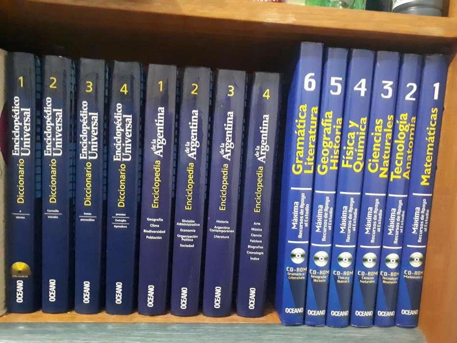 Colección completa de LIBROS ESCOLARES OCEANO CD's y <strong>dvd</strong>'s
