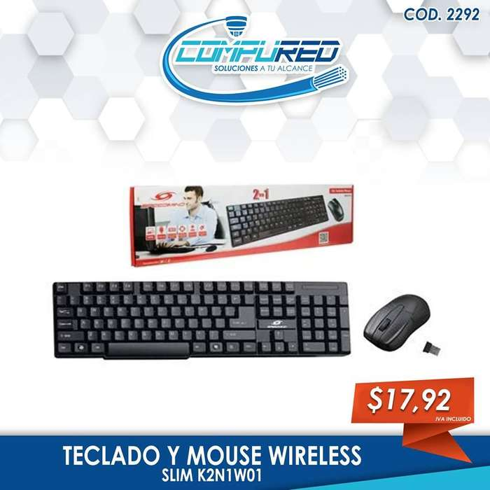 teclado y mouse wireless