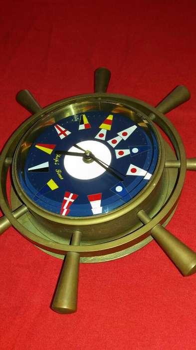 Reloj Barco Bronce Mar Playa Antigüo