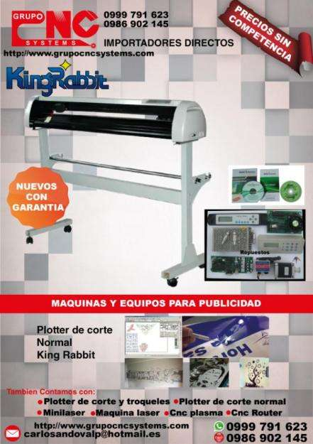 Ploter de Corte King Rabbit DE 136 CM REGALOS, INCLUYE SOFTWARE FLEXI