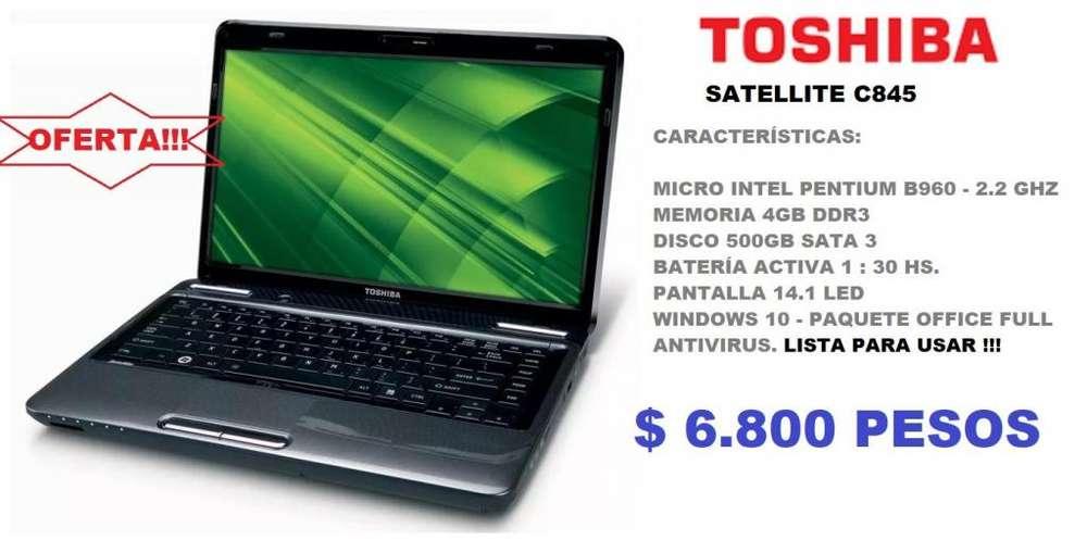 NOTEBOOK TOSHIBA SATELLITE C845 - INTEL DC - 4GB -500GB - OFERTA!!!